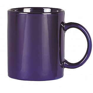 blue promotional Colonial mugs