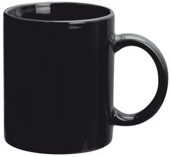 Can Mugs Black Promotional