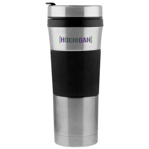 The Wharton Mug is a promotional travel mug.